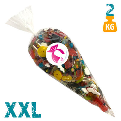 XXL snoepzak van 2 kg met oliegommen