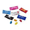 Jelly beans in reclame flowpack 1,5gr