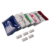 Promotie sachets kauwgom pepermunttabletten
