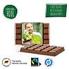 Fairtrade chocolade bedrukken op composteerbare folie