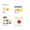 Eco relatiegeschenken met logo beker - medium - Mentos M&M's inhoud