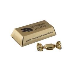 Kleine goudstaaf met gouden zuurtjes 18 gr.