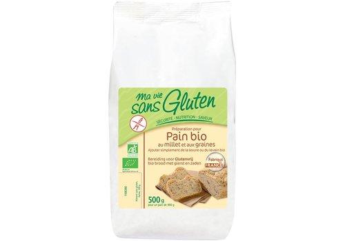 Ma Vie Sans Gluten Broodmix met Gierst en Zaden Biologisch (THT 12-2019)