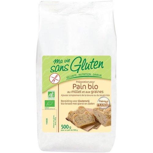 Ma Vie Sans Gluten Broodmix met Gierst en Zaden Biologisch