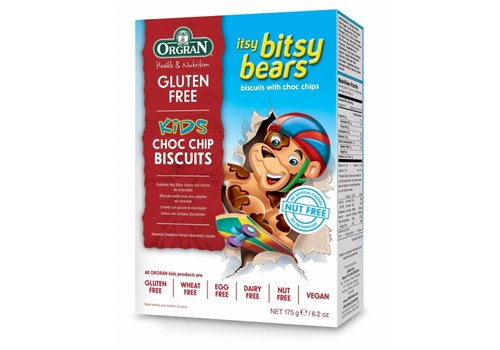 Orgran Biscuitjes met Chocoladestukjes (Itsy Bitsy Bears)