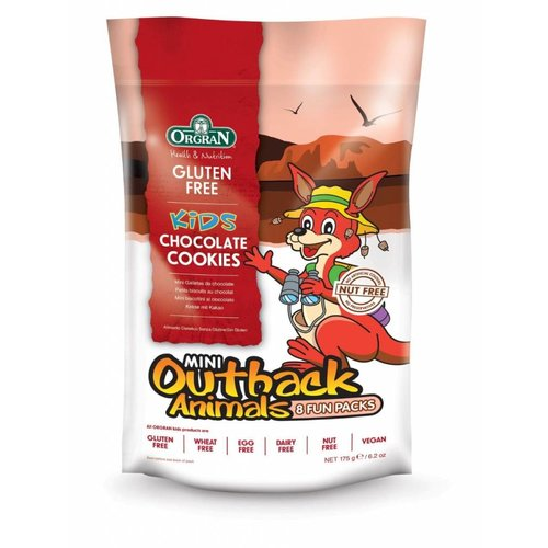 Orgran Mini Outback Animals Chocolate Cookies Multipack (THT 29-5-2019)