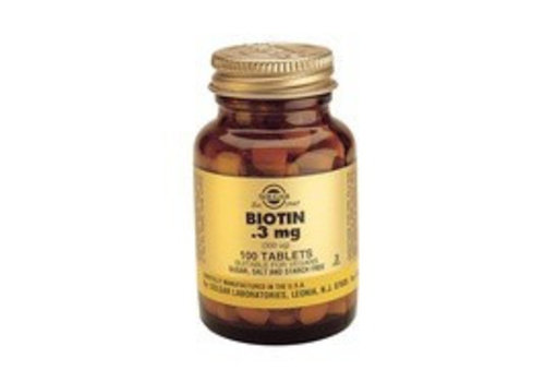 Solgar Biotin 300 µg (100 tabletten)