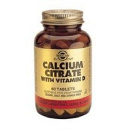 Solgar Calcium Citrate met Vitamine D-3 (60 tabletten)