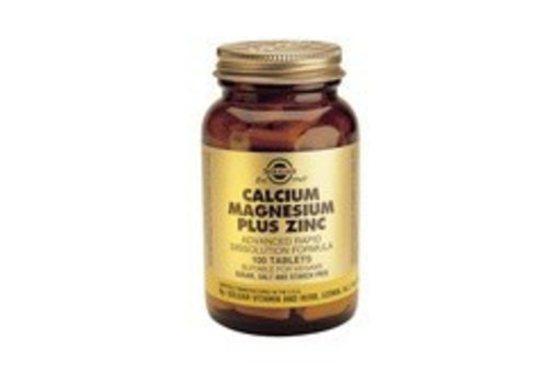 Solgar Calcium Magnesium plus Zinc (100 tabletten)