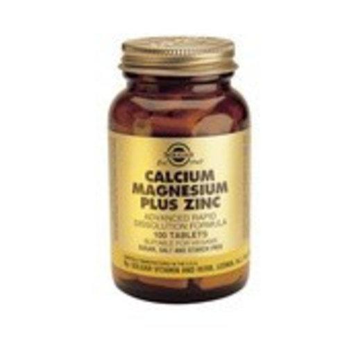 Solgar Calcium Magnesium plus Zinc (100 tabletten)