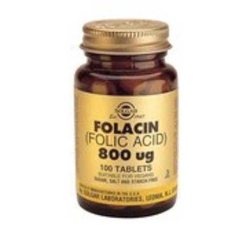 Solgar Folacin 800 µg (Foliumzuur) (100 tabletten)