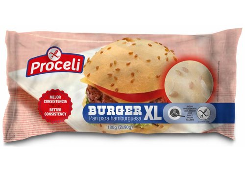Proceli Hamburgerbroodjes XL 2 Stuks