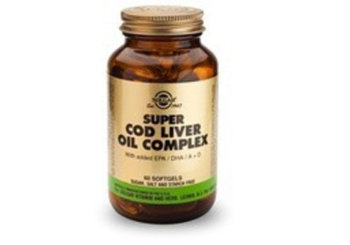 Solgar Super Cod Liver Oil Complex (Levertraan met extra omega-3) (60 softgels)