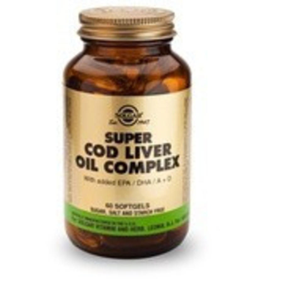 Super Cod Liver Oil Complex (Levertraan met extra omega-3) (60 softgels)