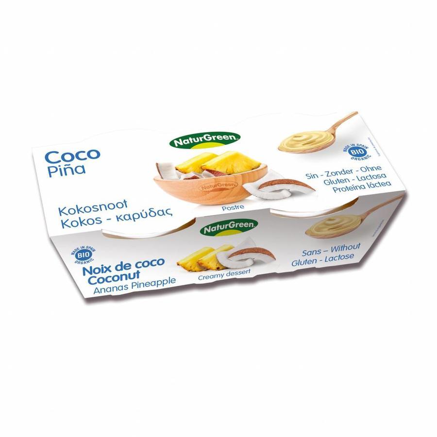 Kokos Ananas Dessert Biologisch
