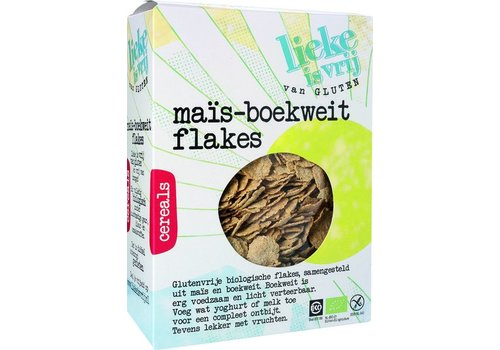 Lieke is vrij Mais-Boekweit Flakes Biologisch