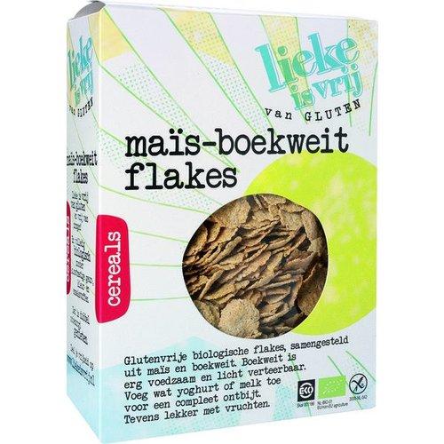 Lieke is vrij Mais-Boekweit Flakes Biologisch
