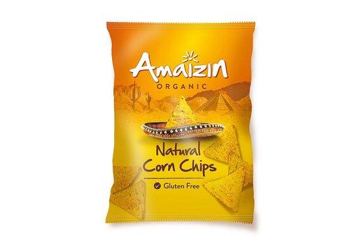 Amaizin Maïschips Naturel 150 gram Biologisch (THT 28-6-2020)