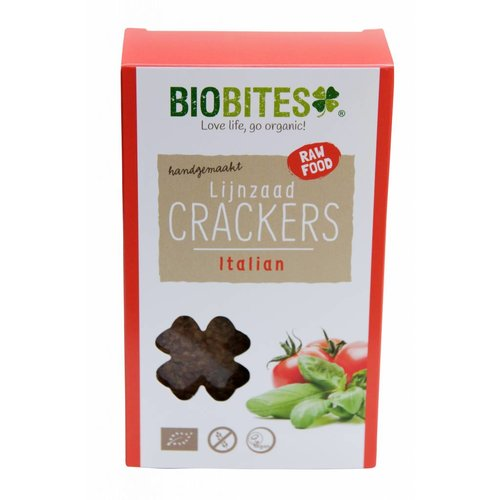 BioBites Lijnzaadcrackers Italian Biologisch