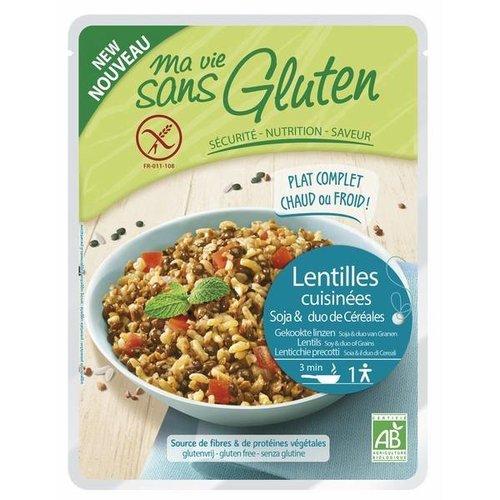 Ma Vie Sans Gluten Groene Linzen en Rijst maaltijd Biologisch