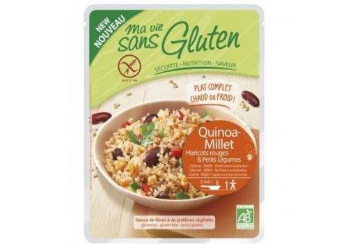 Ma Vie Sans Gluten Quinoa en Gierst met Rode Bonen en Groenten Biologisch