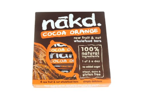 Nakd Cocoa Orange 4-pack