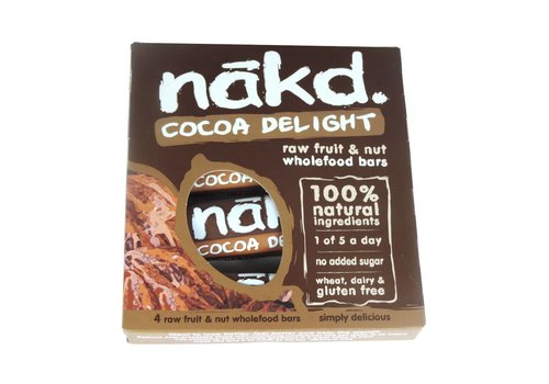 Nakd Cocoa Delight Bar 4-pack