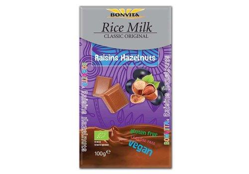 Bonvita Rijstmelk Chocolade Rozijn en Hazelnoot Biologisch