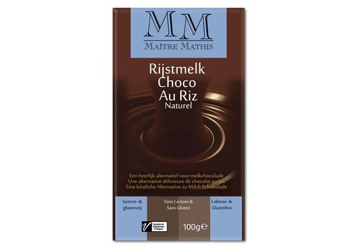Maître Mathis Rijstmelk Choco Tablet Naturel