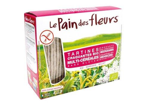 Le Pain des Fleurs Krokante Crackers Meergranen Biologisch