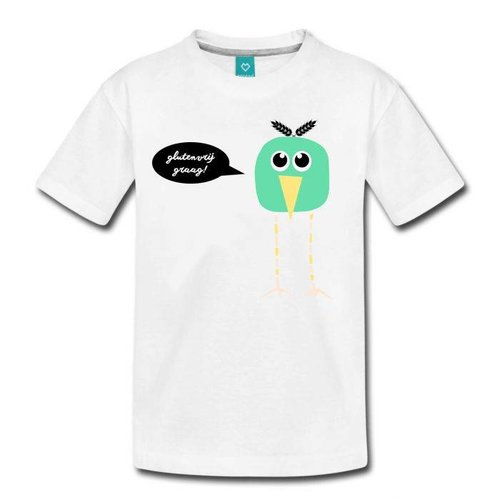 Coeliakiemaand Coeliakiemaand Kinder T-shirt wit, maat 134/146