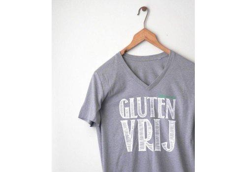 Coeliakiemaand Coeliakiemaand Heren T-shirt grijs, maat L