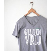 Coeliakiemaand Heren T-shirt grijs, maat M