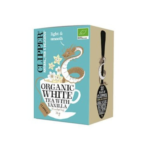 Clipper Organic White Tea With Vanilla Biologisch 20 Zakjes