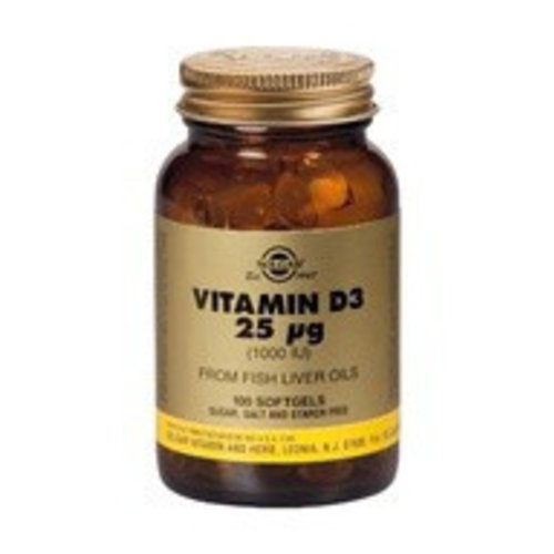 Solgar Vitamin D-3 25 µg/1000 IU (100 softgels)