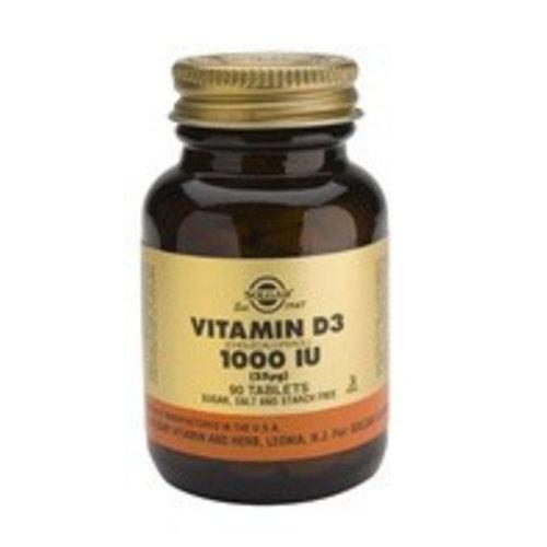 Solgar Vitamin D-3 25 µg/1000 IU (90 tabletten)