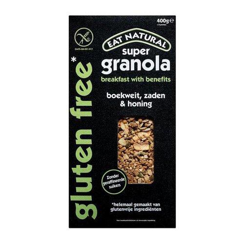 Eat Natural Super Granola Boekweit, Zaden & Honing