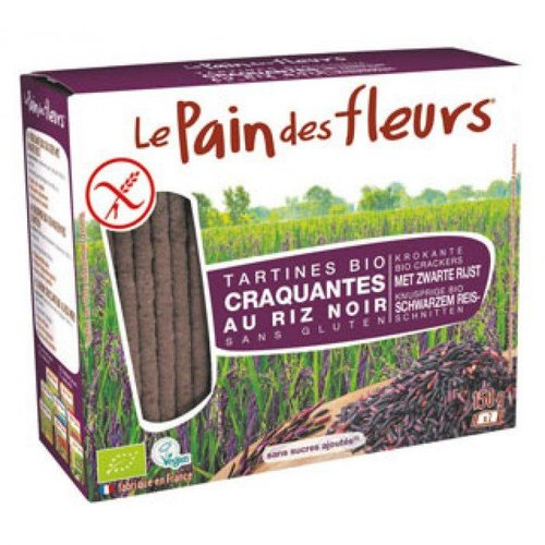Le Pain des Fleurs Crackers Zwarte Rijst Biologisch