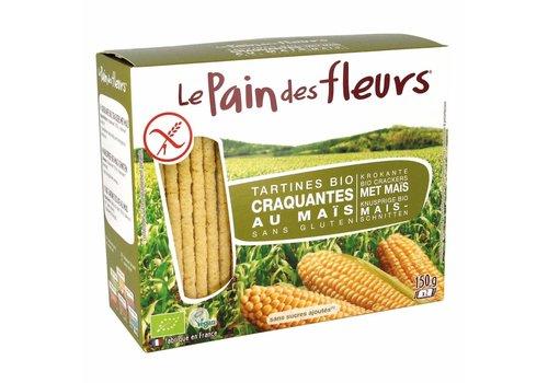 Le Pain des Fleurs Krokante Crackers Mais Biologisch