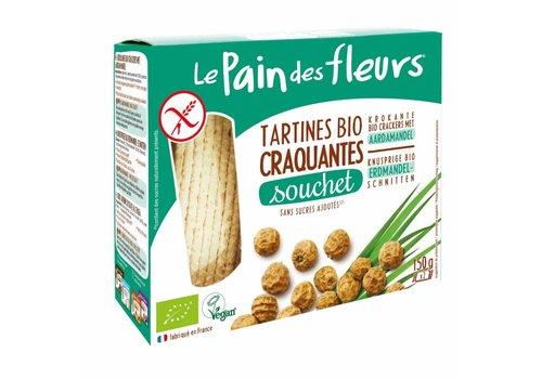 Le Pain des Fleurs Krokante Crackers Aardamandel  Biologisch