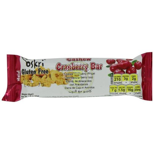 Oskri Cashew Cranberry Bar (THT-04-04-21)