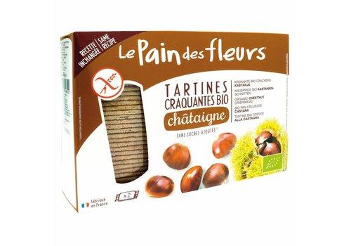 Le Pain des Fleurs Krokante Crackers Kastanje Grootverpakking Biologisch