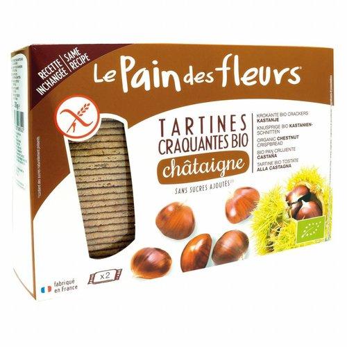 Le Pain des Fleurs Kastanje Crackers Biologisch Grootverpakking