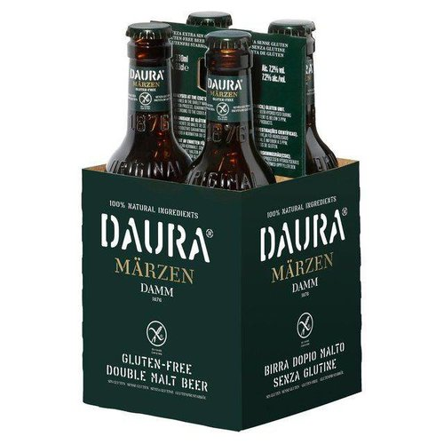 Estrella Damm Daura Glutenvrij Dubbel Malt Bier 4-pack 7,2%