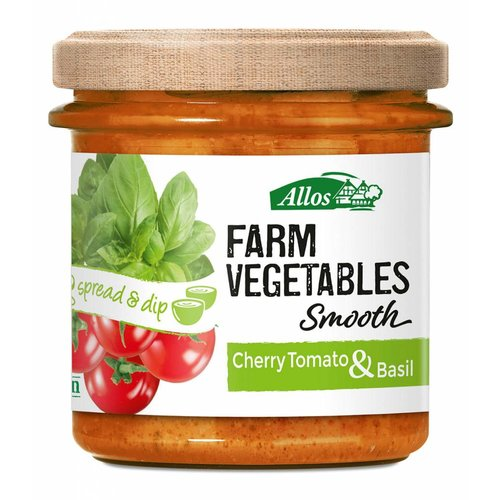 Allos Farm Vegetables Smooth Cherry Tomaat Spread Biologisch