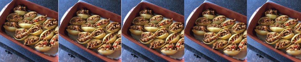 Recept: glutenvrije gevulde pastaschelpen uit de oven