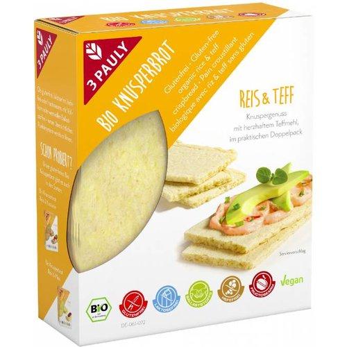 3Pauly Teff Crackers Biologisch