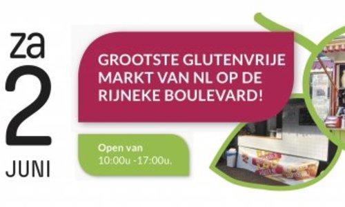 De Grootste Glutenvrije Markt van het jaar: 2 juni 2018 op de Rijneke Boulevard!
