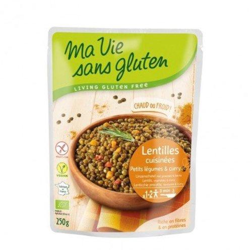 Ma Vie Sans Gluten Linzenschotel met Groenten en Kerrie Biologisch
