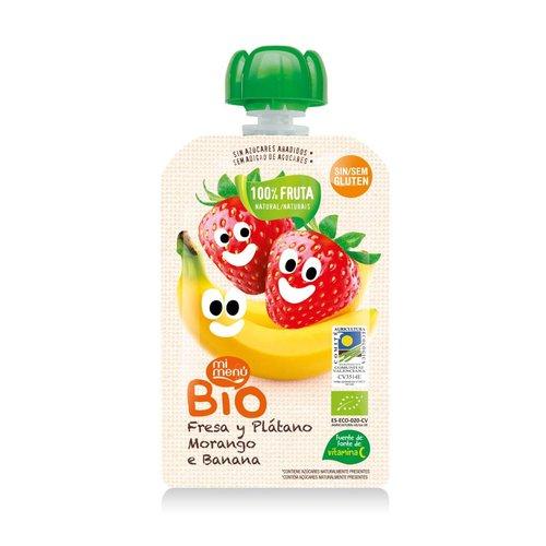 Mi Menu Bio Knijpfruit Aarbei & Banaan Biologisch